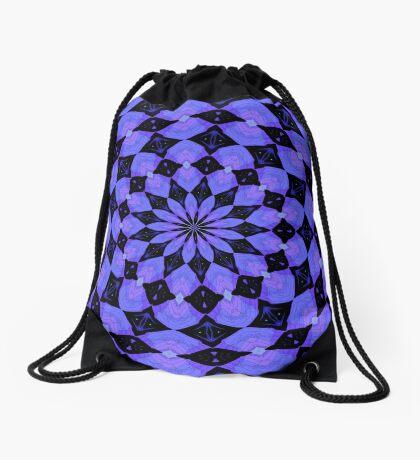 Lavender Kaleidoscope Drawstring Bag