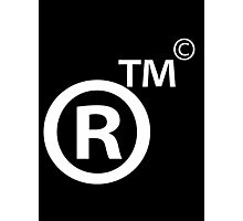 Rights Reserved Trademark Copyright Photographic Print