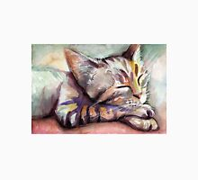 Sleeping Kitten Watercolor, Cute Cats Illustration Unisex T-Shirt
