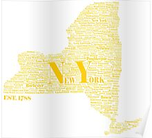 New York State Gold Poster