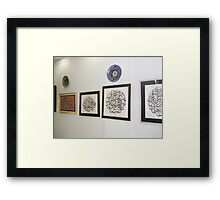 My Islamic Arts Exhibition in Multan Arts Council,2008 Framed Print