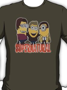 MINIONS SUPERNATURAL Dave The Minion detective cartoon character funny T-Shirt