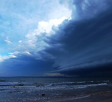 Storm view from Bribie Island by dhannah