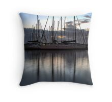 Three Masts at Brighton Marina Throw Pillow