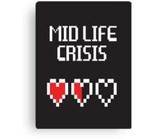8 Bit Mid Life Crisis Canvas Print