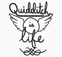 Quidditch is Life (Black) by teecup