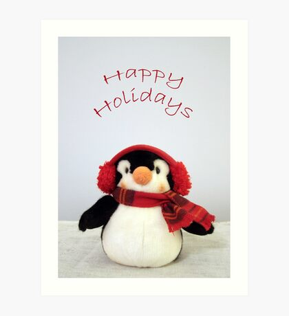 Penguin Wishes Art Print