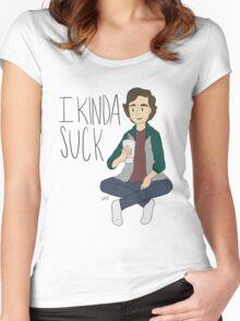 I kinda suck Women's Fitted Scoop T-Shirt