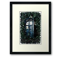 Police Box in The Garden Hoodie / T-shirt Framed Print