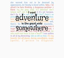 I Want Adventure in the Great Wide Somewhere Mens V-Neck T-Shirt