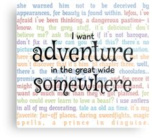 I Want Adventure in the Great Wide Somewhere Metal Print