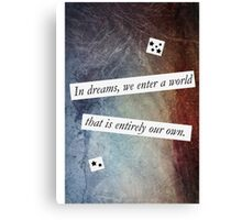 In Dreams - Harry Potter Dumbledore Quote Canvas Print