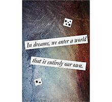 In Dreams - Harry Potter Dumbledore Quote Photographic Print