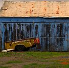 """""""Old Blue Shed"""" by waddleudo"""