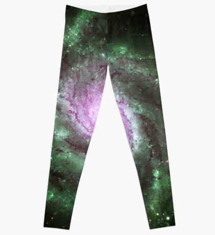 Pinwheel Galaxy [Green Pink] Leggings