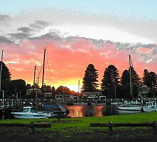 Port Fairy Harbour by Pam Amos