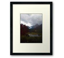 Spencer Glacier Framed Print