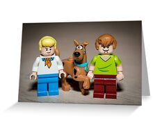 Fred, Shaggy and Scooby Doo Greeting Card