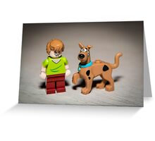Shaggy and Scooby Doo Greeting Card