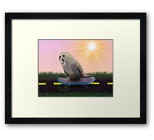 Parakeet on  a Skateboard Framed Print