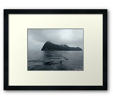 Mist Soaked Mountains Framed Print