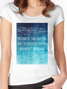 900 Years of Time and Space Women's Fitted Scoop T-Shirt