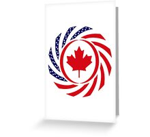 Canadian American Multinational Patriot Flag Series 1.0 Greeting Card