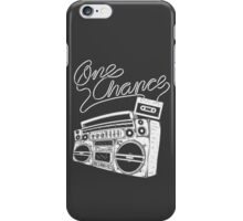 One Chance Ghetto Blaster - White Print iPhone Case/Skin