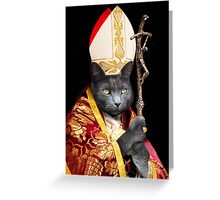 Cat Pope  Greeting Card
