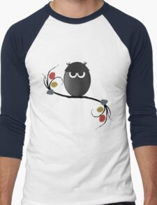 Halloween Owl Men's Baseball ¾ T-Shirt