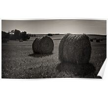 Hay Bales - French Countryside Poster