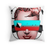 House Head Female Avatar Throw Pillow