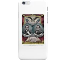 Abraham Lincoln and Andrew Johnson Election Banner 1864 iPhone Case/Skin