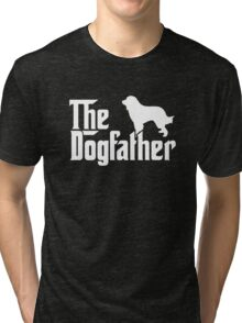 THE DOGFATHER Great Pyrenees Dogs Tri-blend T-Shirt