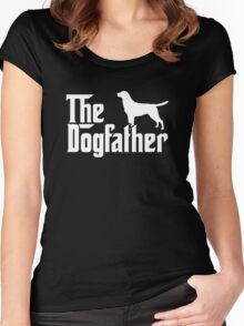 The Dogfather Labrador Retriever Dogs Women's Fitted Scoop T-Shirt