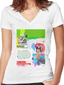 Beautiful Day Women's Fitted V-Neck T-Shirt