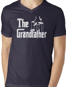 The Grandfather Gift For Grandad Fathers Mens V-Neck T-Shirt