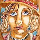 Lady Wearing Hat by Penny Lewin - Hetherington