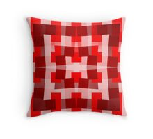 Red Square/Star Pattern (2 of 2, please see notes) Throw Pillow