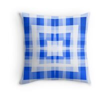 Blue Square/Star Pattern (1 of 2, please see notes) Throw Pillow