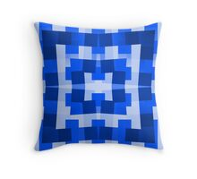Blue Square/Star Pattern (2 of 2, please see notes) Throw Pillow