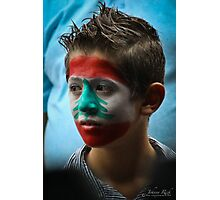 Lebanese boy - Face Painting Photographic Print