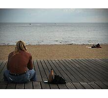 Man at Beach Part I Photographic Print