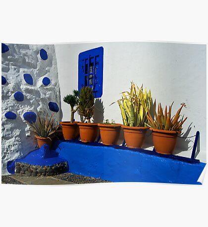 Pots of Puerto de las Nieves Poster