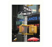 Sights and Sounds of New York Art Print