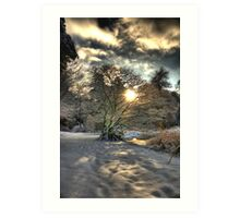 A county Down Winter Scene Art Print