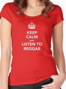 Keep Calm With Reggae Women's Fitted Scoop T-Shirt