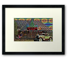 He's Not Here Bar And Grill Framed Print