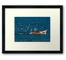 Chased by the Birds Framed Print