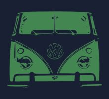 VW Kombi Green Design One Piece - Short Sleeve